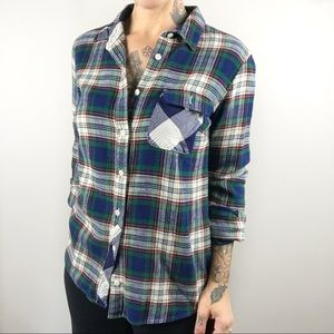 J. CREW Deep Ivy Plaid Flannel Shirt